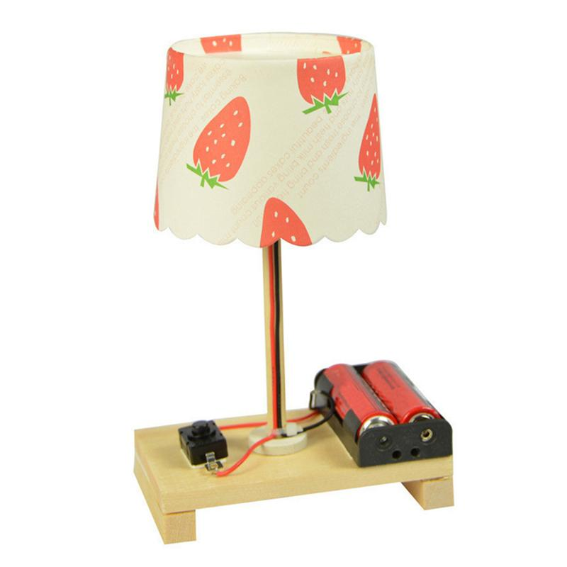 Small Desk Lamp Toys Children Science Experiments DIY Technology Small Making Invention Educational Toy (Random Pattern)