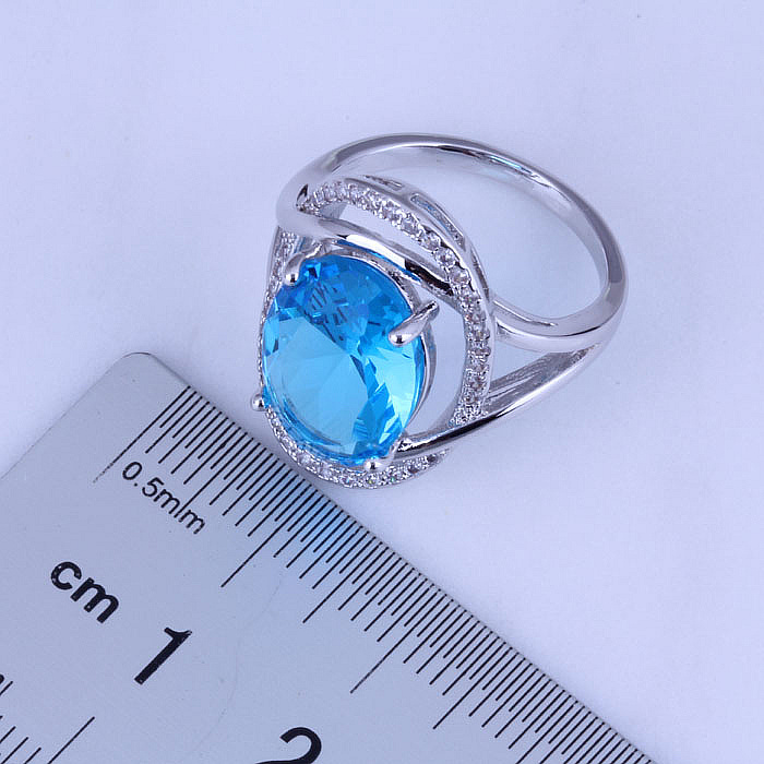 Love Monologue Pretty Blue Sky Crystal & Cubic Zirconia Oval Silver - Mode-sieraden - Foto 3