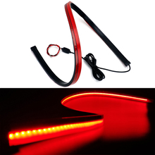 Flexible Red Super Bright Car Additional Brake Light Rear Tail Warning LED Strip Third High Mount Stop Waterproof
