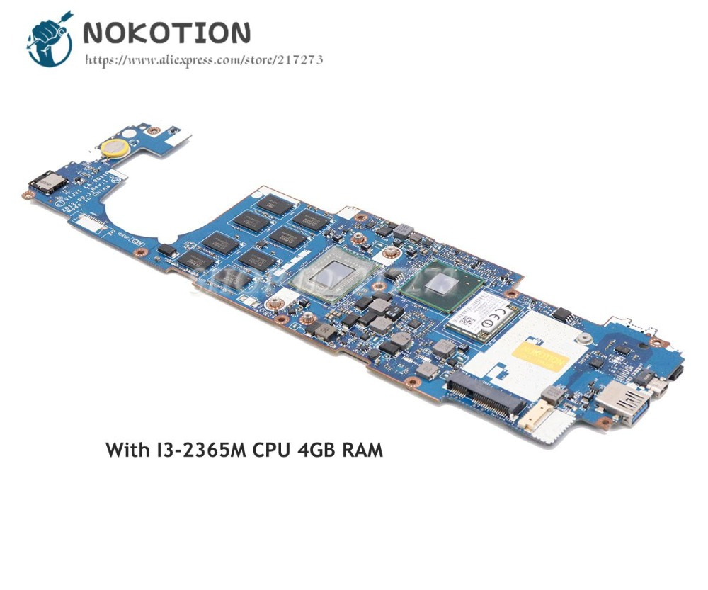 NOKOTION V1JV1 LA-9011P NBL0E11003 Main Board For Acer Iconia W700 W700P Laptop Motherboard MAIN BOARD I3-2365M CPU 4GB iconia w700 new for acer w700 tablet pc cpu fan built in cooling fan
