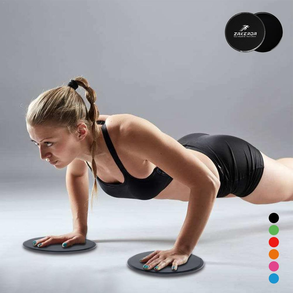 2PCS Fitness Body Coordination Ability Gliding Discs Slider Fitness Exercise Sliding Plate For Yoga Gym Abdominal Core Training