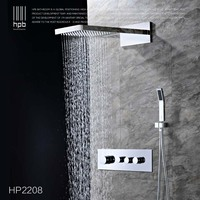 HPB Brass Thermostatic Bathroom Water Mixer Wall Mounted Bath Shower Panel Set Faucet torneira banheiro HP2211b