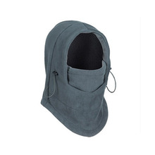 Winter Windproof Velour Beanie Polyester Hat Fleece Cap Face Mask Hood Outdoor