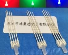 مزيج شقة أعلى 2 ملليمتر عدسة ليد ثنائية 4pin الأنود المشترك/الكاثود
