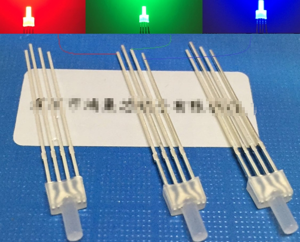 Mix Flat Top 2mm Led Diode 4pin Common Anode/cathode