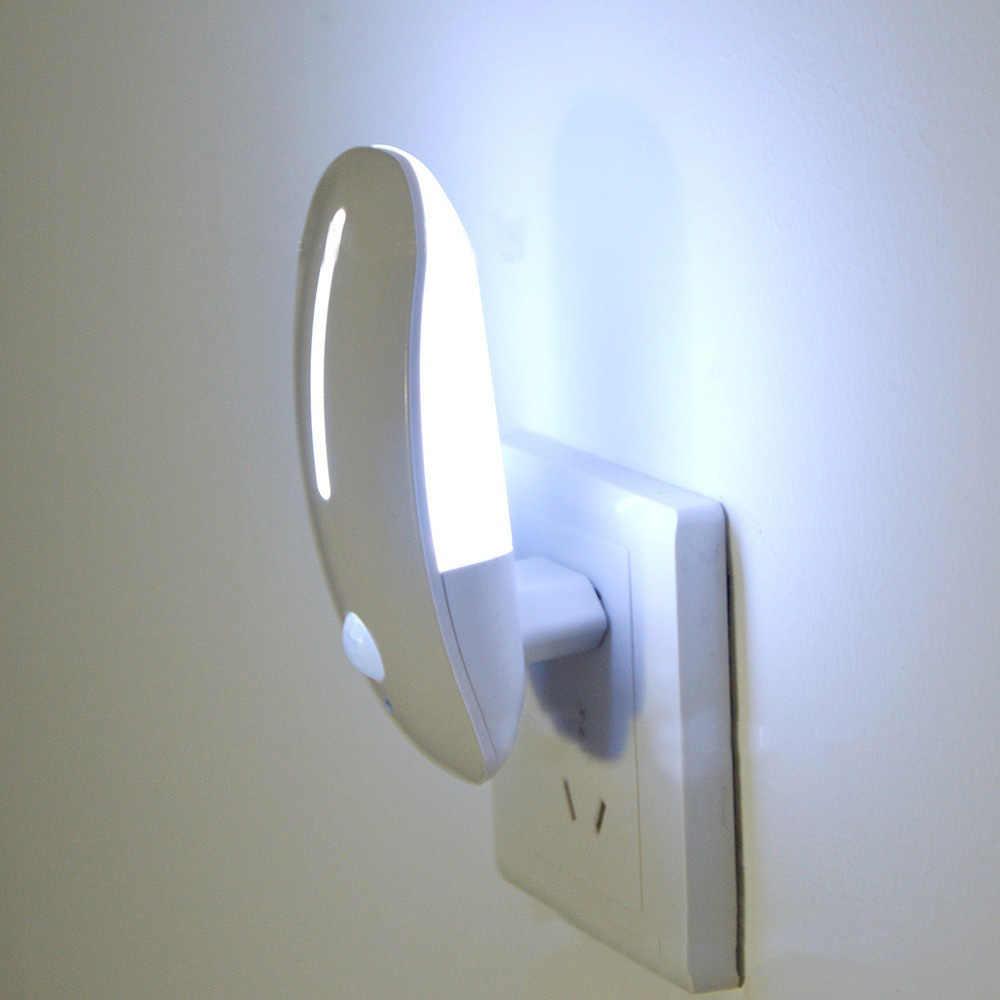 Plugue Na Luz da Noite com Sensor De Movimento Sensor De Luz De Energia-saving Auto on/Off Bebê Crianças Quarto Corredor corredor Lâmpada Luminaria