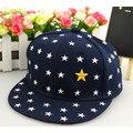 5 padrão de estrela cap chapéu hip hop boné de beisebol do bebê bonito das crianças cap 2016 chapéu snapback para crianças primavera verão menina chapéu do bebê cap