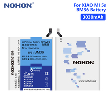 NOHON High Quality Real 3030mAh Lithium Polymer Rechargeable BM36 Battery For Xiaomi Mi 5S Mi5S Phone Bateria Batteries