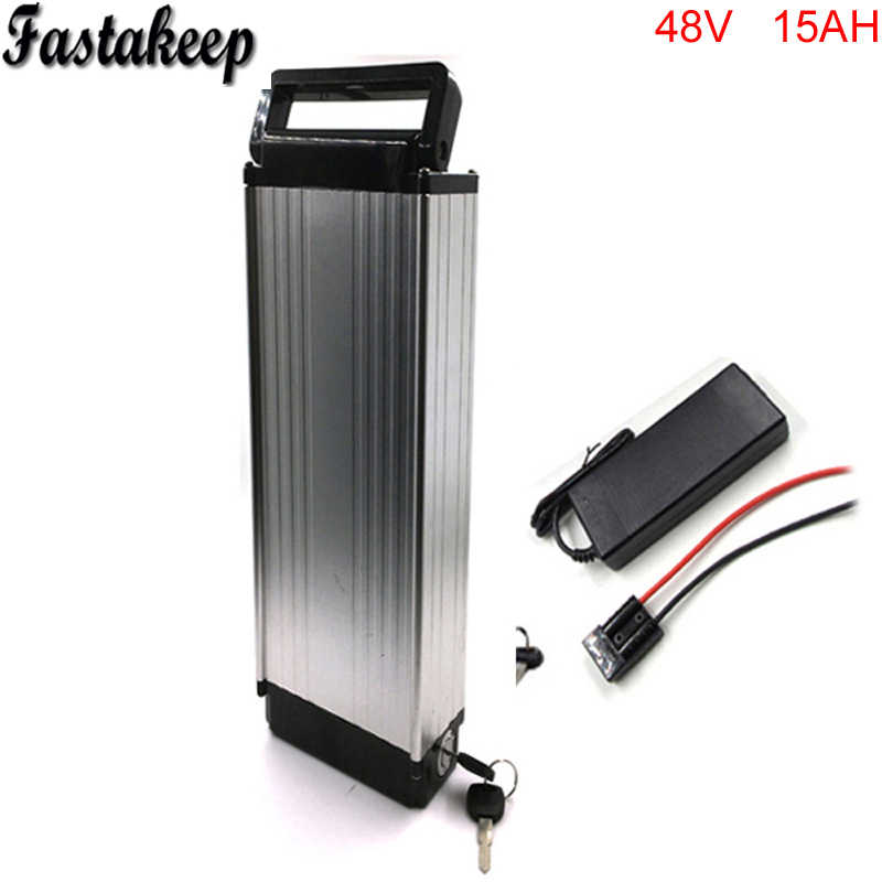 Rear rack style rechargeable battery 18650 high drain 48v 15ah ebike battery pack 48v 750w electric bike kit with charger