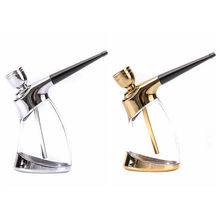 2016 Mini Hookah Mini Smoking Pipe Small Shisha Fashion Cigarette Holder Pipes Style Smoking Pipe Gold Silver color