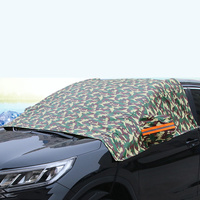 waterproof rain Half Car Cover Protector Waterproof Outdoor Snow Dust Rain Resistant Shield Car Covers Solar Protection Sunscreen Reflective (1)