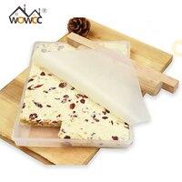 5Pcs Set DIY Handmade Nougat Silicone Mold Non Stick Mat Wooden Flat Roll Nougat Chocolate Mold