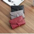 4 Colores Disponibles Bolsas de Embrague 2016 Mujeres de La Manera de Cuero Serpentina Retro Carpeta de Las Mujeres del Cuero Genuino Monederos Marca