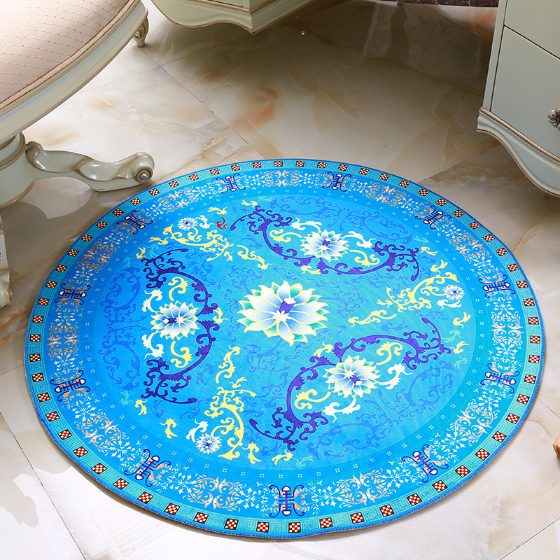New Circle Europe Style Yoga Mats Jacquard Computer Cushions Rugs And Round Carpets For Living Room Luxury Bed Rugs 60/80/100/