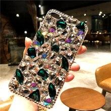 For Samsung Galaxy J5 J4 J6 J7 J8 2018 A6 A8 A7 A5 A3 Luxury Glitter Back Cover Crystal Bling Diamond rhinestone soft Phone case