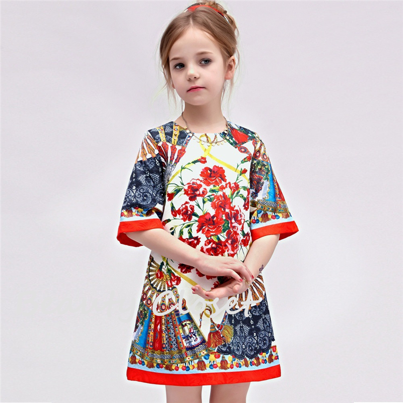2016 Girl Summer Dress European And American Style High Quality Girl Dresses2016 Girl Summer Dress European And American Style High Quality Girl Dresses