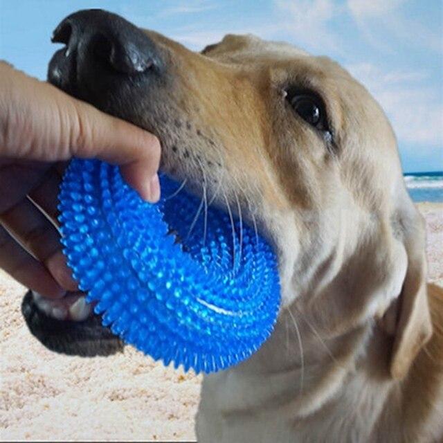 Pet Giocattolo Morso a Prova di Squeak Chew Palla Giocattolo Palla di Gomma Suon