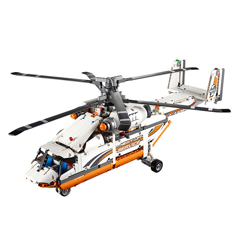 ФОТО  20002 technology series mechanical group high load helicopter blocks 42052 Boy assembling toys for Children