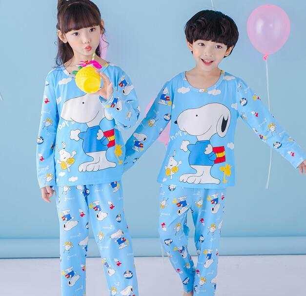 bd2ee425141 placeholder Cartoon Children long Sleeve Pajamas Boy Girl autumn sleepwear  Baby nighty Suit Child bedgown Clothes kids