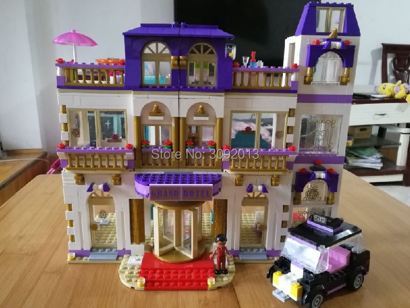 Us 6222 01045 Girls Friends Heart Lake Heartlake Grand Hotel 10547 Building Blocks Toy Compatible 41101 Children Birthday Gift In Blocks From Toys