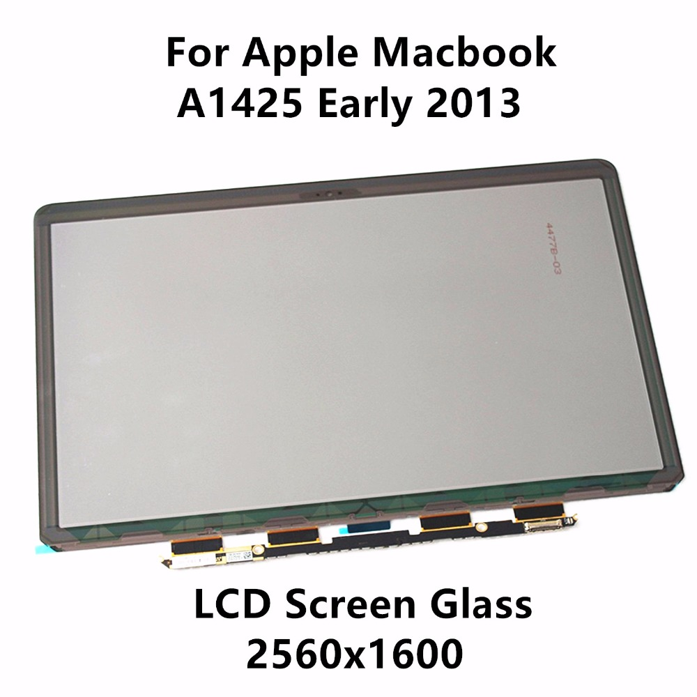 New LCD Screen Glass Panel Display LP133WQ1 SJA1 LSN133DL01 for Apple Macbook Pro 13 Retina A1425 Early 2013 EMC2557 ME662LL/A original brand new for macbook a1466 a1369 lcd screen display panel 13 3 glass