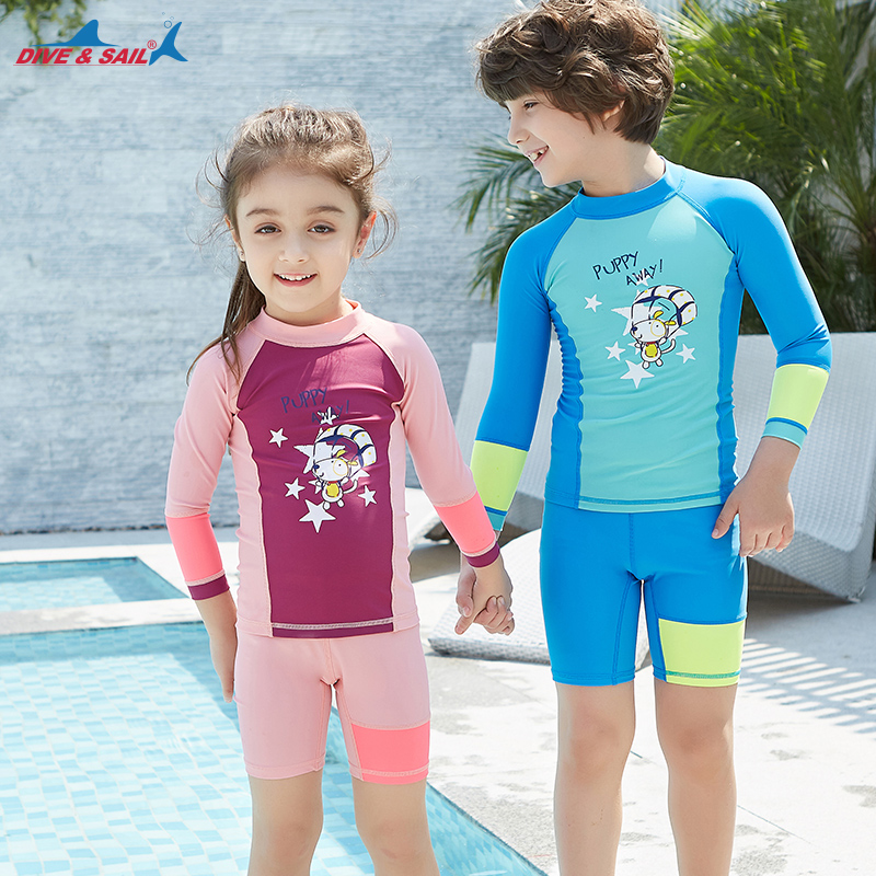 0765faa3f0dff Children's Long Sleeved Panties Quick dry summer UV Protection Swimwear  Beach Surfing Kids Swim Suit Swimsuit Sunscreen UPF 50+ -in Rash Guard from  Sports ...
