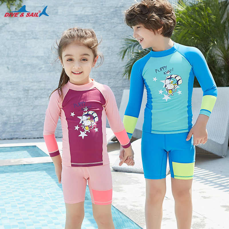 0ca04a48bef05 Children's Long Sleeved Panties Quick dry summer UV Protection Swimwear  Beach Surfing Kids Swim Suit Swimsuit
