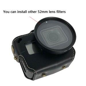 Image 3 - Deri Kılıf Koruyucu kapak Git Pro Hero7 6 5 52 MM UV filtre lens kapağı ÇANTA GoPro Hero 7 6 5 eylem Kamera Aksesuarları