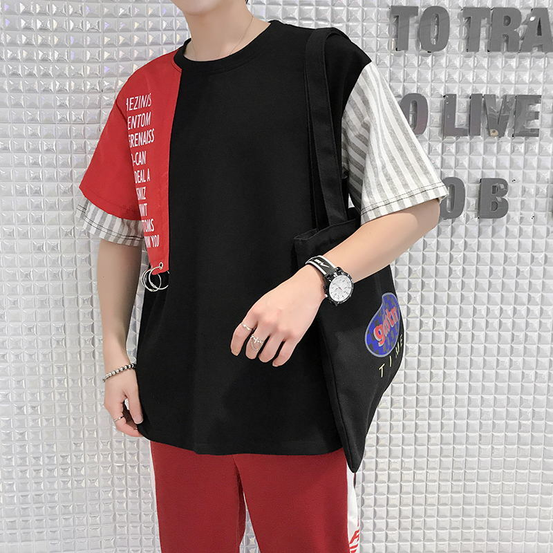 The Wind Original Will hiphop Spelling Color Easy T Pity Male Goods In routine summer loose and comfortable personality letter