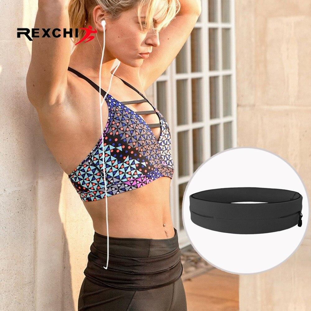 REXCHI Ultralight Running Belt for Men Women Sports Waist Bag Elastic Phone Holder Pack Hiding Anti-thief Sport Accessories strength training
