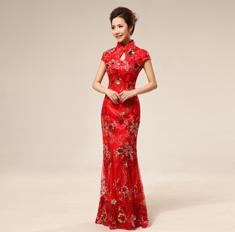 Inspiration from Beijing Fashion Week   OneWed  Chinese Wedding Dresses 2012