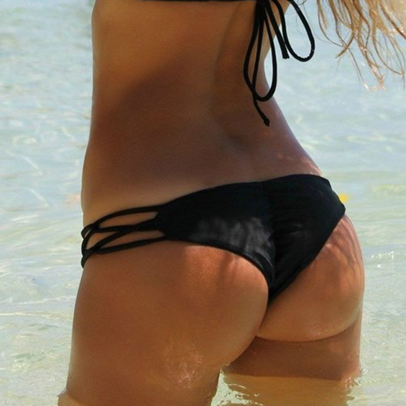 Womens Secret Bikinis Bottom Thong Sexy Swimsuit Vintage Swimwear Black Brazilian Biquini Women T-back Cheeky Bikini Bottoms 1