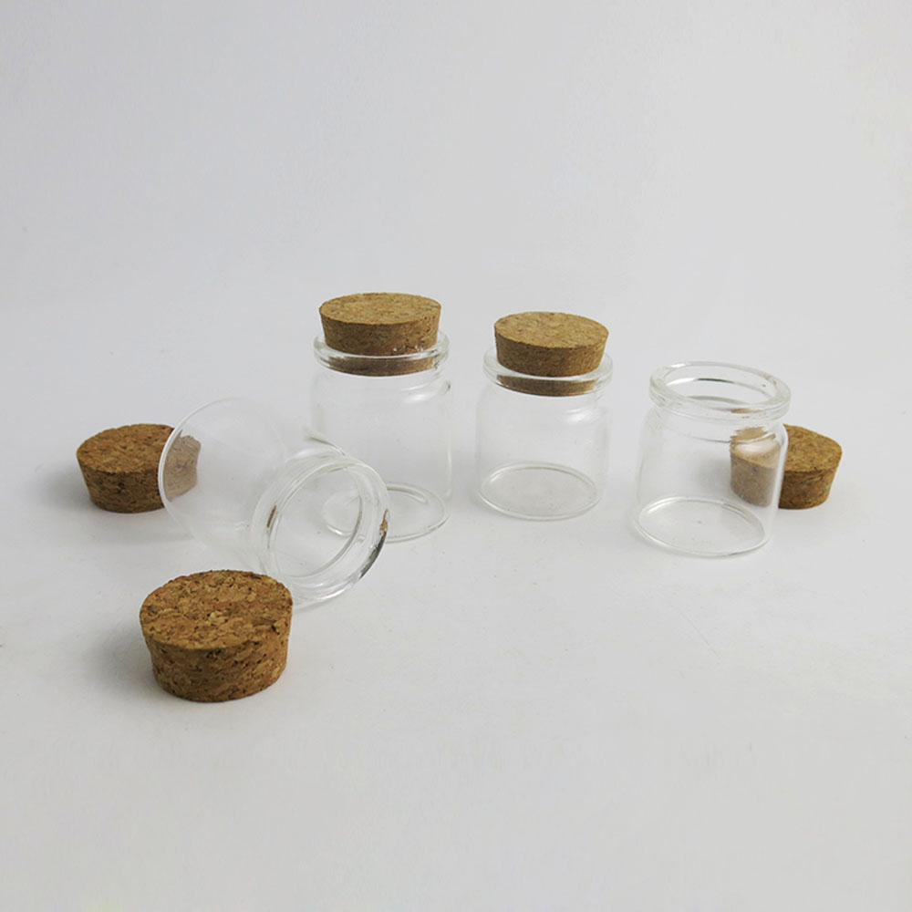 50 x 25ML 30ML Factory Wholesale very cute Glass vials With Cork 1OZ Glass Bottles Small
