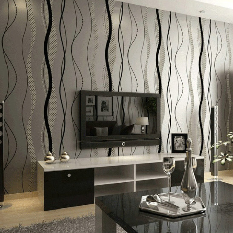 Non Woven Wallpaper Roll Modern Simple Style Surface Striped Nonwoven Wall Paper 3D Desktop Wallpaper papel de parede 0.53m*10m non woven bubble butterfly wallpaper design modern pastoral flock 3d circle wall paper for living room background walls 10m roll