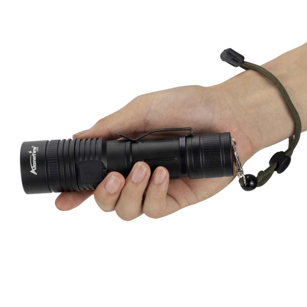Adjustable LED Zoom 40000 Lm Mini USB Rechargeable Flashlight Torch Lamp Light G