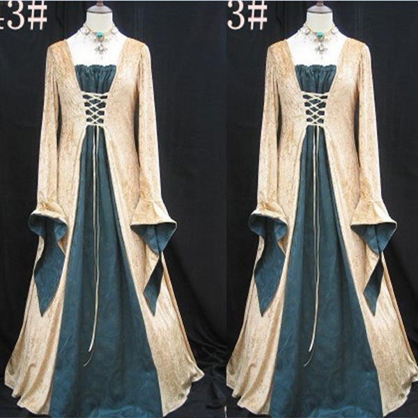 Brand New Renaissance Medieval Queen Adult Costume