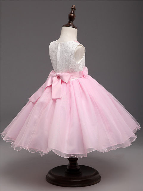 Tienda Online Dulce princesa Rosa marca Vestidos de flores de niña ...