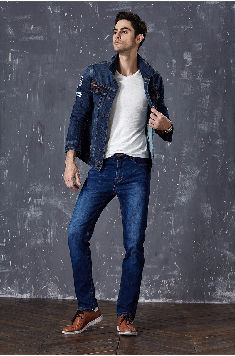 Drizzte Brand New Fashion Mens Jeans Slim Stretch Pants Thin Denim Trousers Size 35 36 38 40 42 Lightweight Jeans for Men 5