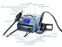 YIHUA 992DA 3 In 1 Digital Display Hot Air Rework Soldering Iron Station Smoke Vacuum BGA