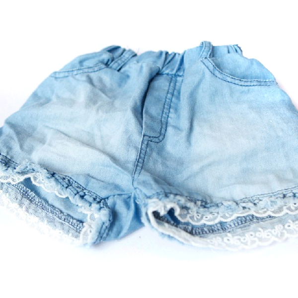 Fashion Kids Girls   Shorts   Jeans Lace Pocket Demin Summer   Short   Pants