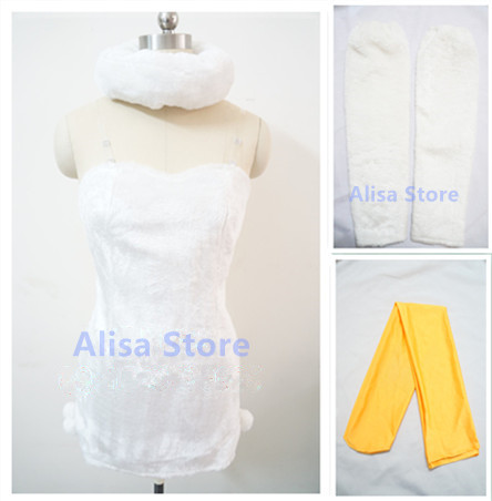 apan Anime Fairy Tail Aries Cosplay Costume Full Set Dress+Sleeve Covers+Foot Covers+Cavel+Neckerchief