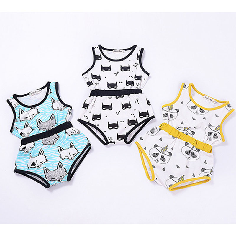 Summer Infant Girl Boy Newborn Baby Cartoon Sleeveless T-shirts + PP Shorts Clothes Suits Toddler Kids 2pcs Clothing Sets new arrival autumn newborn baby girl boy clothes suits cartoon cardigan knitting coat long pants infant baby clothing sets 2pcs
