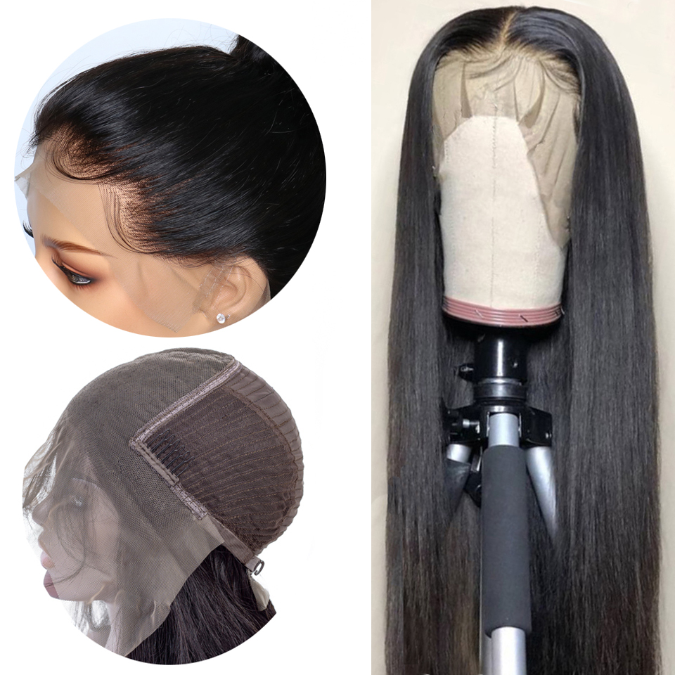 13X6 Straight Lace Front Human Hair Wigs Brazilian Remy Hair Lace Front Wig For Black Women With Baby Hair Natural Color