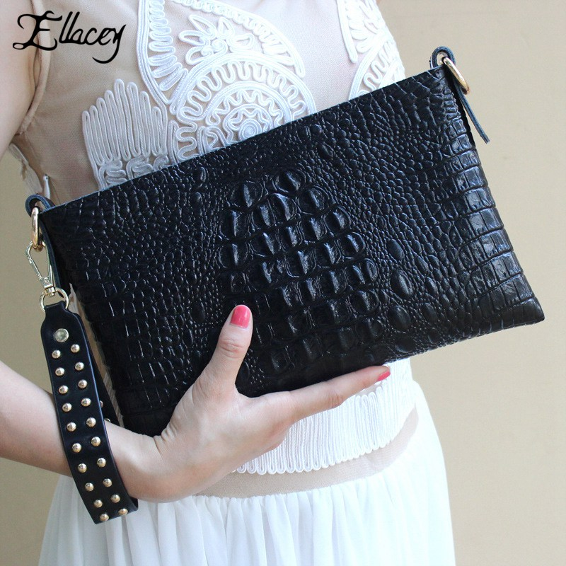 2016 New Famous Ladies Evening Bags Women Crocodile Pattern Leather Bag Minaudiere Evening Bag Clutch Shoulder Evening Handbags bags for women 2017 ladies cheap handbags crocodile silver clutch envelope evening purse leather shoulder woman clutch hand bag