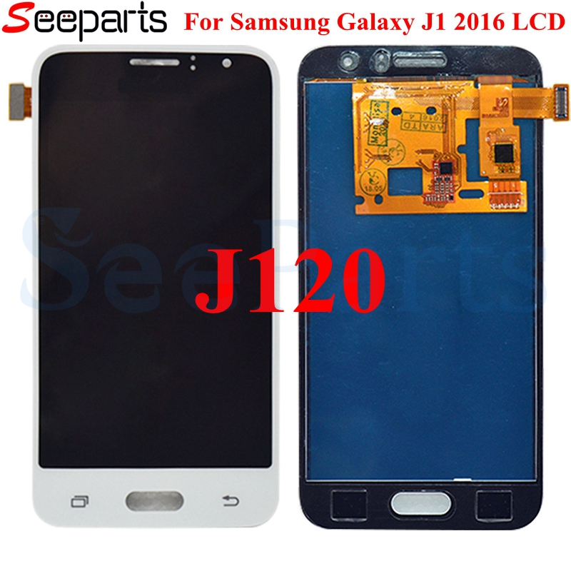 For SAMSUNG GALAXY J1 2016 LCD J120M J120F J120 Display Touch Screen Digitizer Assembly Replacement For 4.5 SAMSUNG J1 2016 lcd