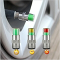 4PC/lot 2.4Bar 36PSI Car Auto Tire Pressure Monitor Valve Stem Caps Sensor Indicator Eye Alert Diagnostic Tools Kit