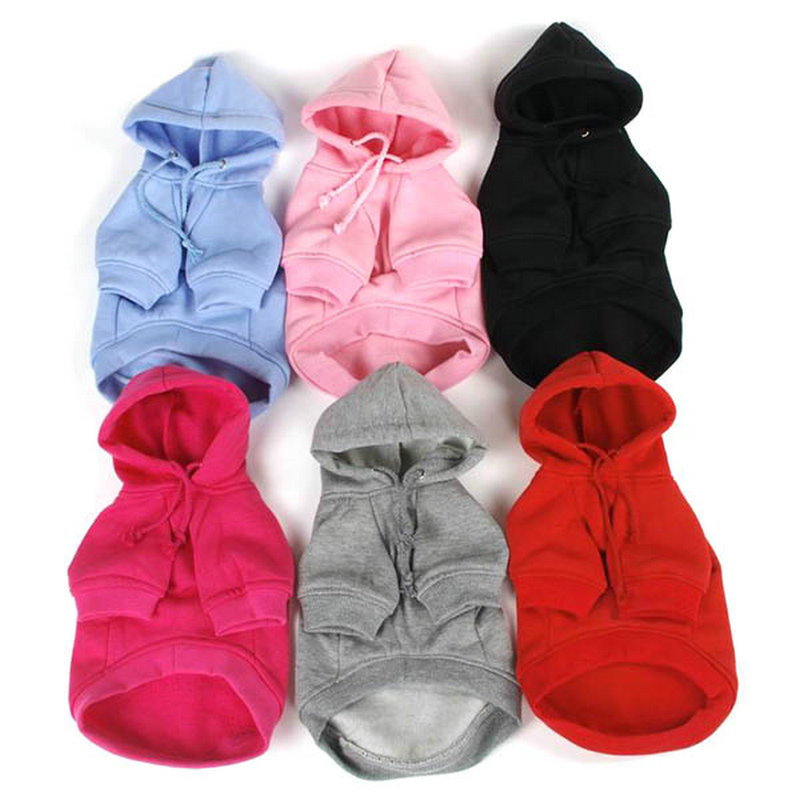 2018 7 Colors Pet Puppy Dog Clothes Coat Hoodie Sweater Costumes Dogs Jackets S M L XL XXL