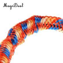 MagiDeal 2 Pieces 3.5 ft Bungee Dock Ties DOCK LINE Boat Marine Mooring Rope Orange