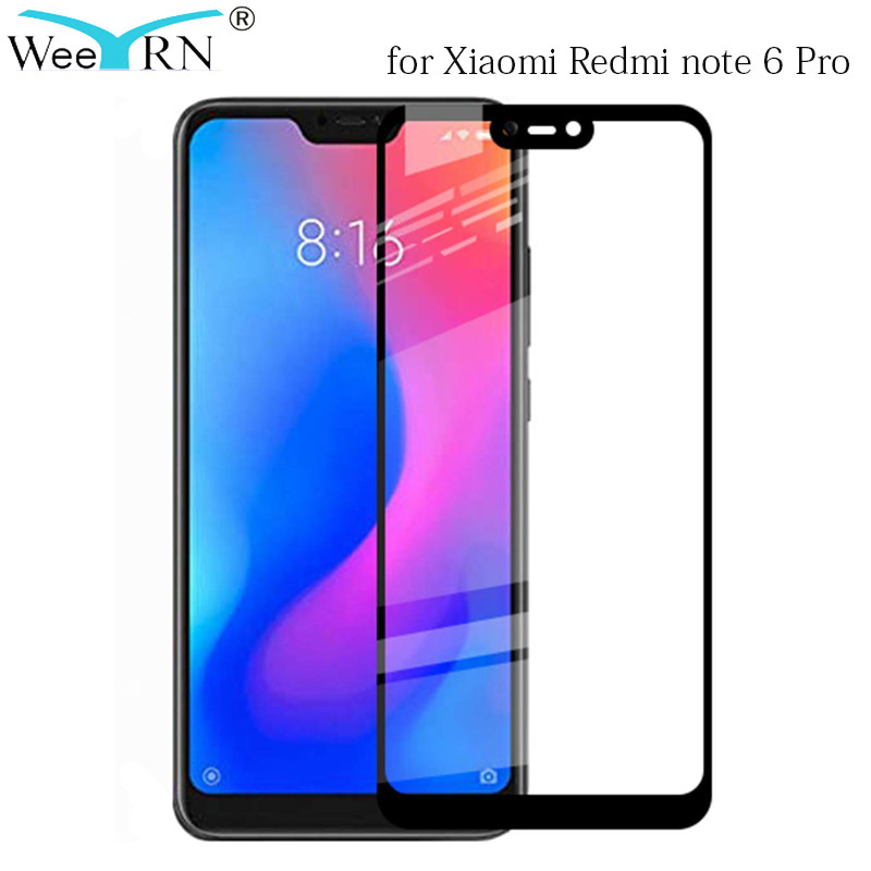 WeeYRN Tempered Glass Xiaomi Redmi note 6 7 Pro Full Flim Cover 9H 2.5D Screen Protect Protective Glass on Redmi note 6 7 Pro Redmi