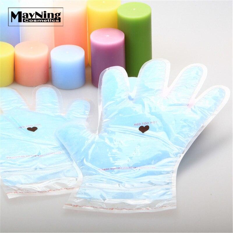 Paraffin Hand Maske Wachs Behandlung 1 stück Mehrweg für 5 Mal Bleaching Feuchtigkeitsspendende Handschuhe Anti Falten Glättung Kallus Prävention